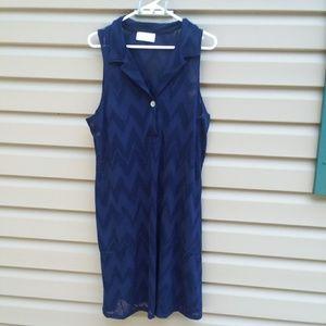J Valdi Sz Med Lg Navy Blue Cover up Swimsuit